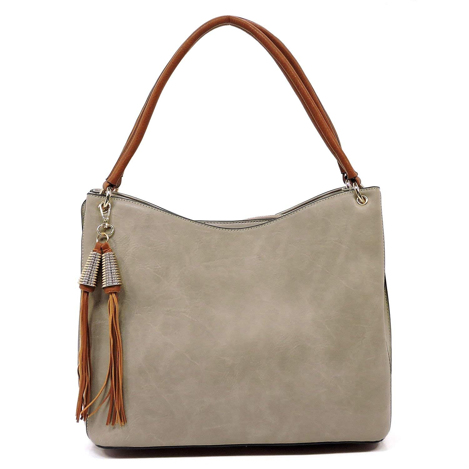 608efb0b953a Get Quotations · Easy carrying light weight soft vegan faux leather  shoulder handbag with crossbody shoulder strap