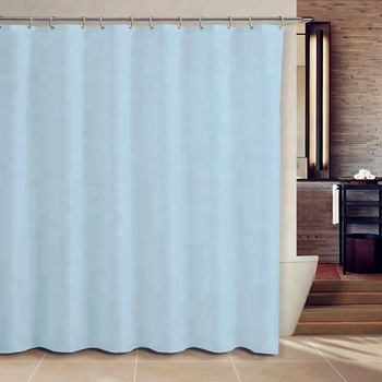Disposable Custom PEVA Flame Retardant Printed Plastic Shower Curtain With Hookless