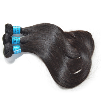 unprocessed double drawn virgin natural color 4c hair extensions