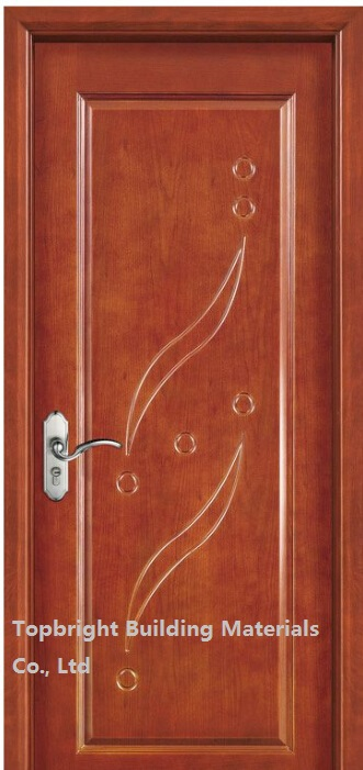 Single Solid Wooden Veneer Carving Main Door Design Models