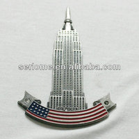 Antique Style New York Magnet Metal Souvenir