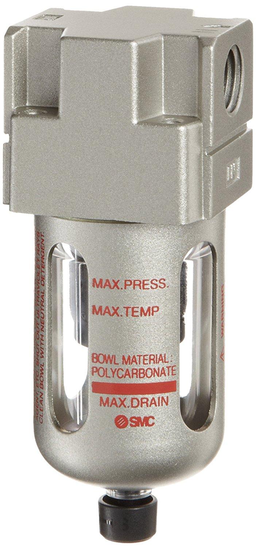 Float Auto Drain SMC AFM20-N02C-CZ-A Removes Oil Mist Mist Separator 0.3 Micron N.C. Polycarbonate Bowl with Bowl Guard 7 scfm 1//4 NPT