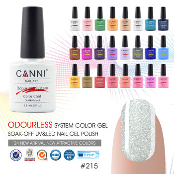 30917 Nail Art Design CANNI Brand Matte French Tip Gel Polish 240 Color Metal Bling