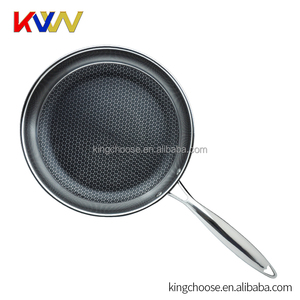High Quality 3-ply Honeycomb Frying Pan Non Stick Camping Cooking Pot