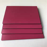 Polyester resin wall panels aluminium cladding composite sheet for outside building decoration