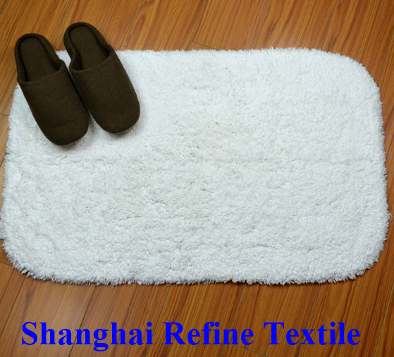 Hotel Cotton Bath Rug, Anti-Slip Hotel Bath Rug