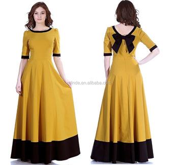 4654c8f621e3 Women Floor Full Length Party Dress Modest Tea Length Dresses - Buy ...