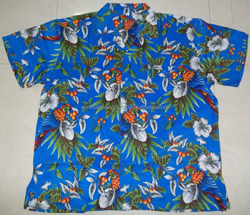 80283423 Bright Color Macau Parrot Print Hawaiian Shirts - Buy Macau Parrot ...