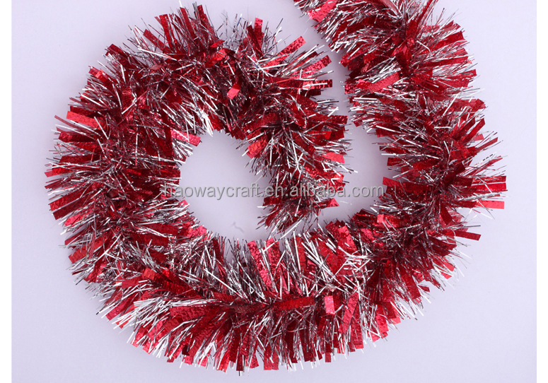 Colorful wholesale christmas tinsel garland yiwu factory buy