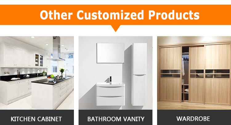 VC CUCINE Foshan fabrika 2-Çekmece ile yüksek kaliteli küçük modern PVC vanity banyo