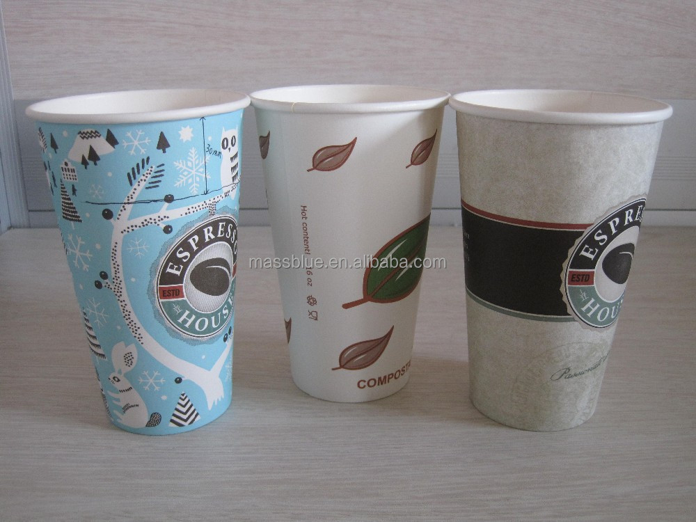 Disposable coffee cup, custom printed paper cup