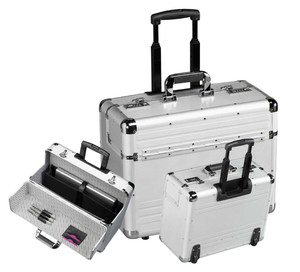 Aluminum pilot case With Trolley