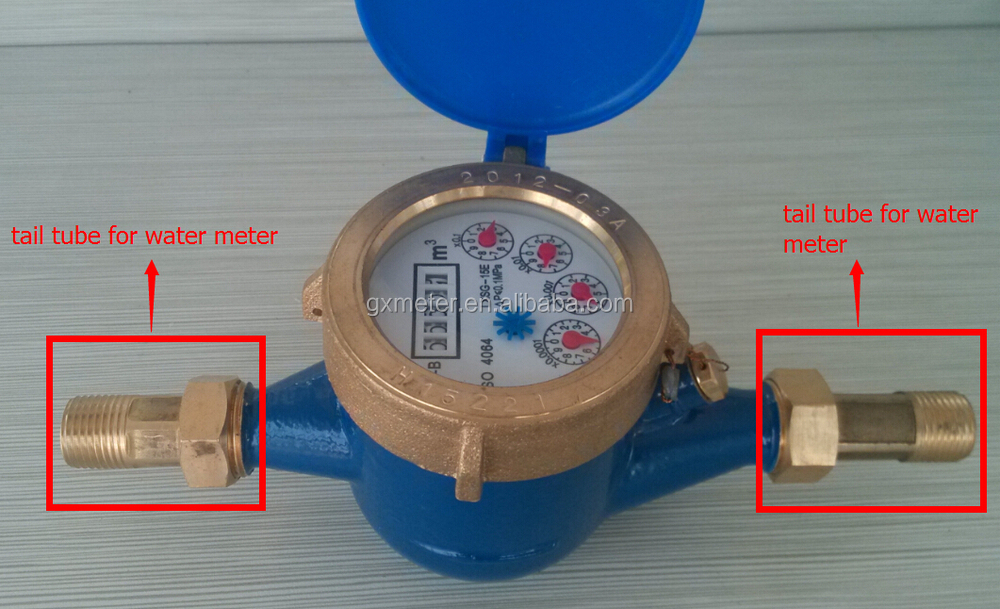 Connecting fitting water meter connector brass