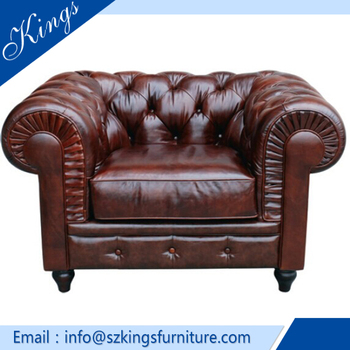 Chesterfield Leather Sofa Antique Made In Italy