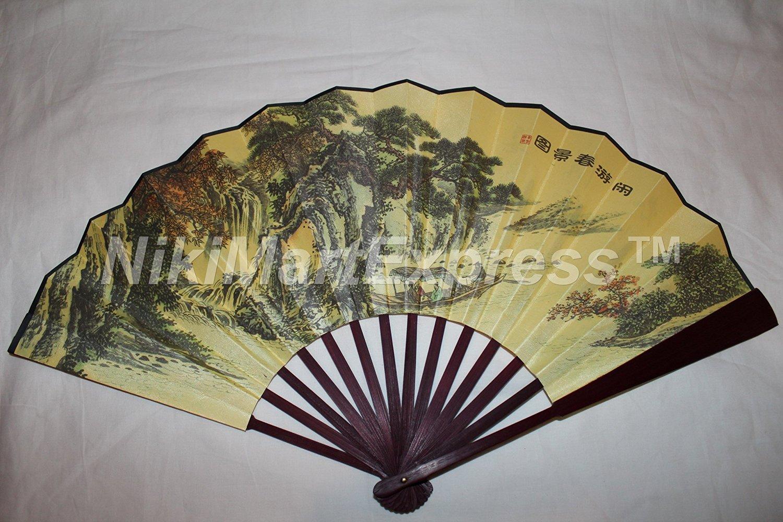 Buy Large Beautiful Chinese Spring Break Bamboo Silk Hand Folding