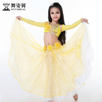8d838fa4d2a6 Wuchieal Organza Kids Belly Dance Costumes For Kds Competition - Buy ...