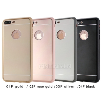 In Stock Hybrid TPU Metal Cellphone Case For iPhone 7 & 7 Plus Black Case