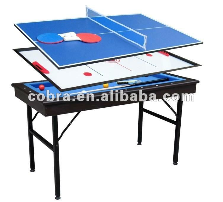 Korea 4 Ball Carom Billiard Table, Hot Selling With Folding Legs