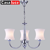 Modern chrome small decorative iron home lighting decor chandelier for home