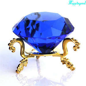 Loyal Blue Crystal Diamond Showpiece For Market Decoration
