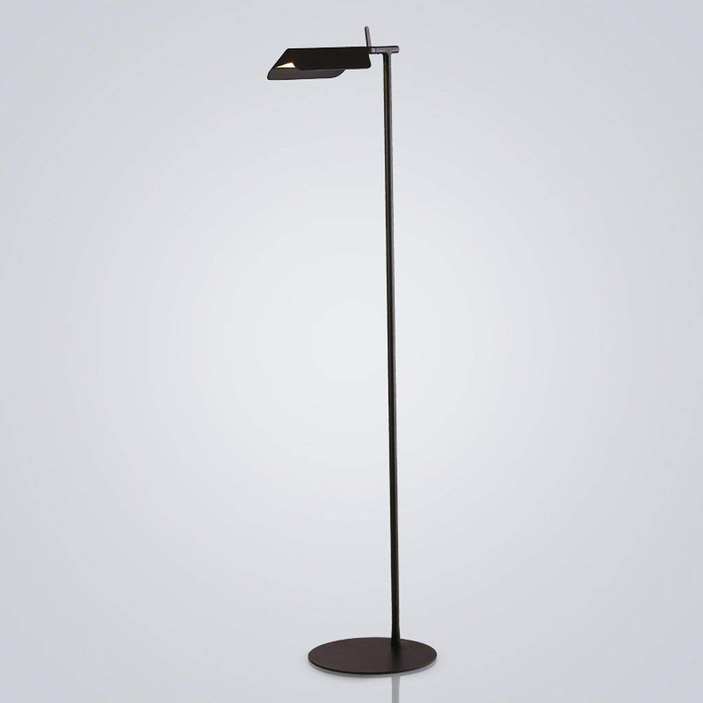 "Single Stem LED Floor Lamp, Iron Lamp Holder, Height 56.94"", Living Room Sofa Bedroom Study Creative Long Arm Vertical Floor Lamp (Color : B)"