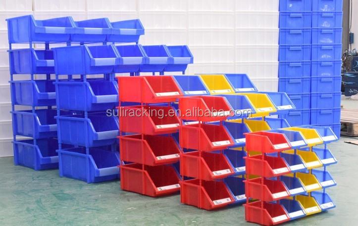 Stanley Hangers Plastic Rack Tool Storage Bins Small Parts Stackable Box