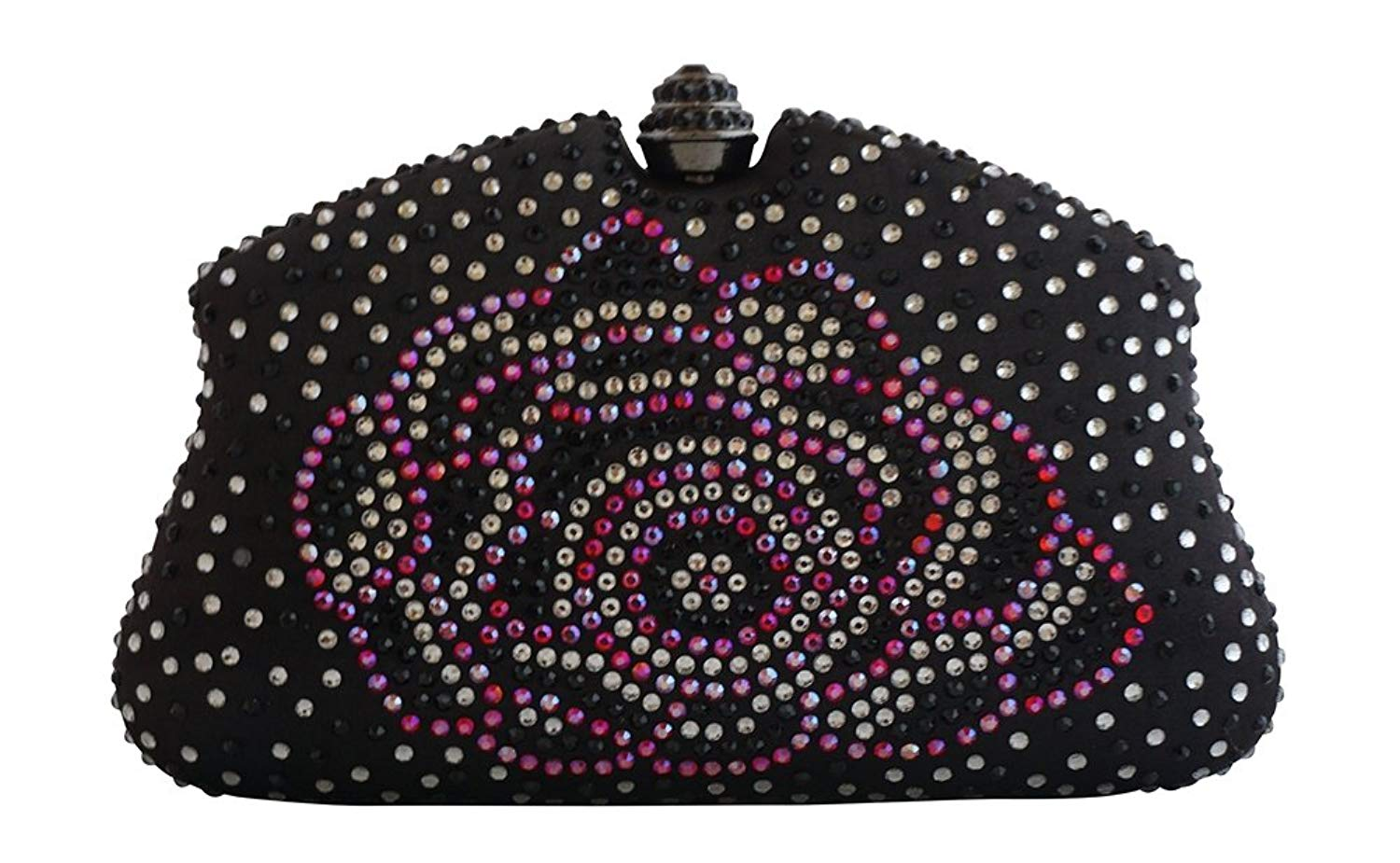 207b29bd34 Get Quotations · Chicastic Multi Color Rhinestone Crystal Hard Box Cocktail  Clutch Purse