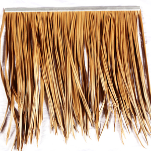 PVC PE fireproof artificial thatch plastic synthetic roofing thatch