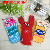 Factory price customized 3d anime cute silicone mobile phone case for iphone 6s 7 7plus