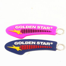 Custom logo soft pvc rubber cord zipper slider puller for garments and zipper puller/custom zipper pulls