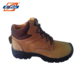 Workplace PU sole dielectric nubuck leather yellow steel toe safety boots