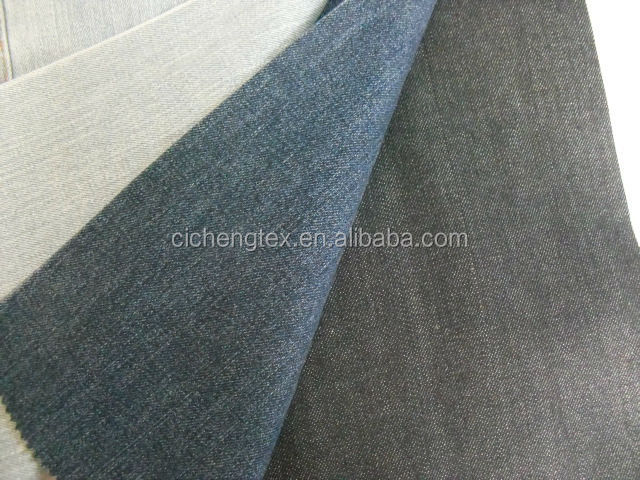 shaoxing textile yarn dyed jean fabric cotton poly and spandex woven solid denim fabric jeans lycra manufacturing