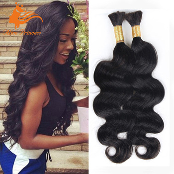 Brazilian Bulk Hair Extensions Without Weft