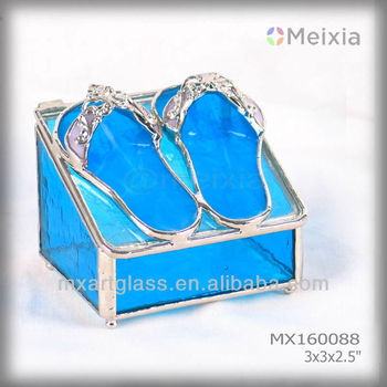 MX160088 Hot tiffany style bevel stained glass jewelry box