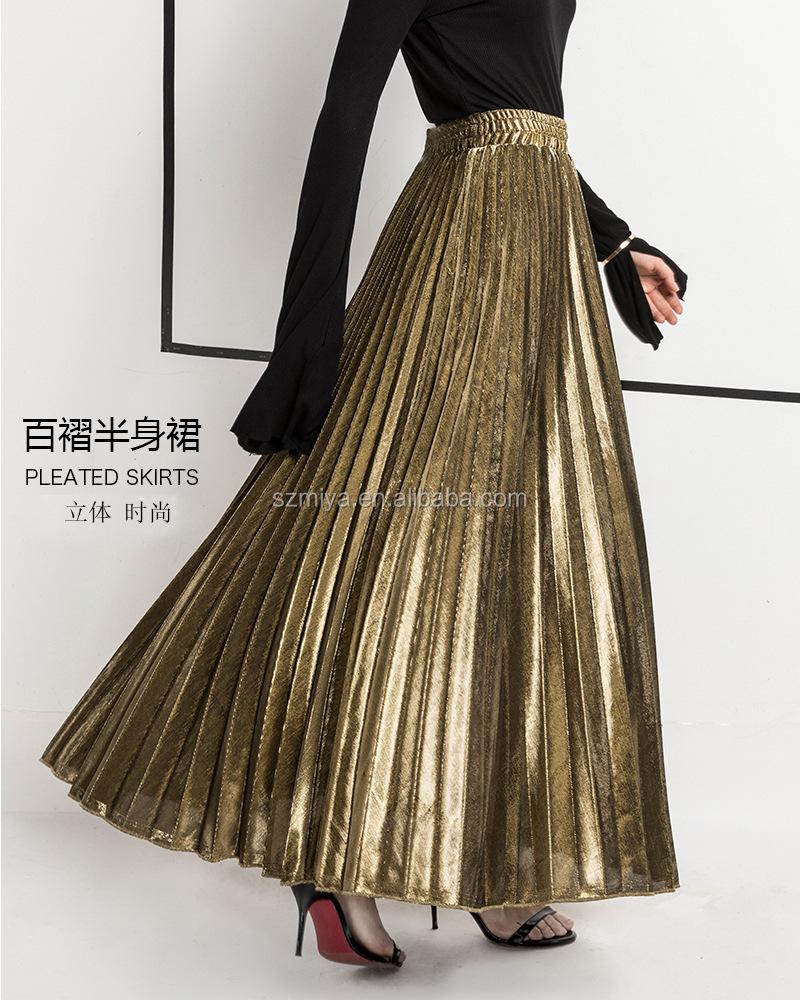 a301914ab 2018 De Moda Elegante Cintura Alta Formal Largo Maxi Falda Plisada Falda De  Las Mujeres - Buy Falda Maxi Plisada,Falda Larga Maxi,Faldas De Cintura ...