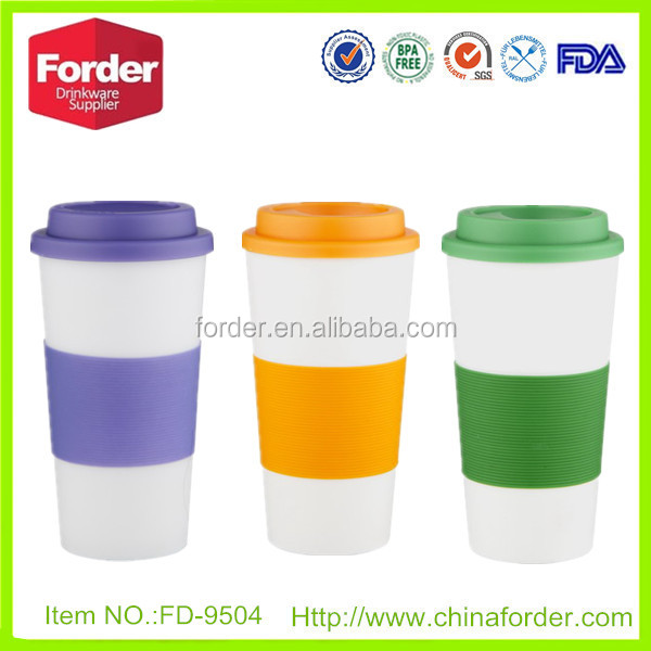 Popular promotional cheap coffee PP tumbler