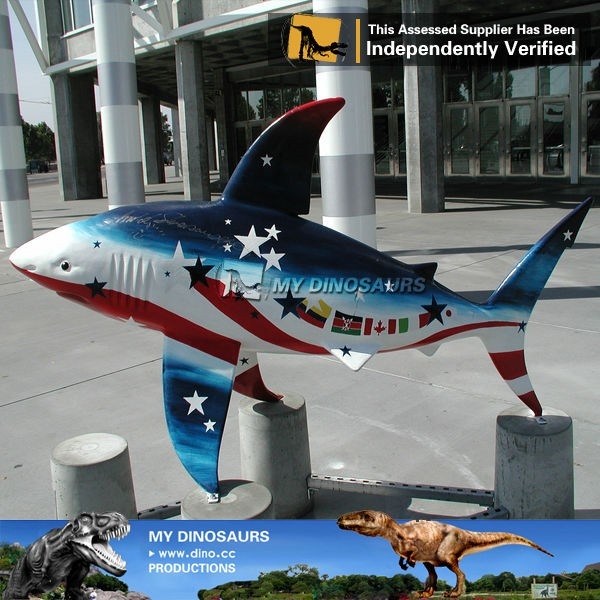 MY Dino-N170 Outdoor waterproof animal dolphin/shark sculpture for park decoration