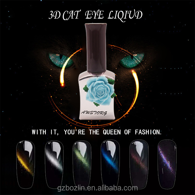 Beautiful Changable cat eye liquid 3D effect gel nail polish