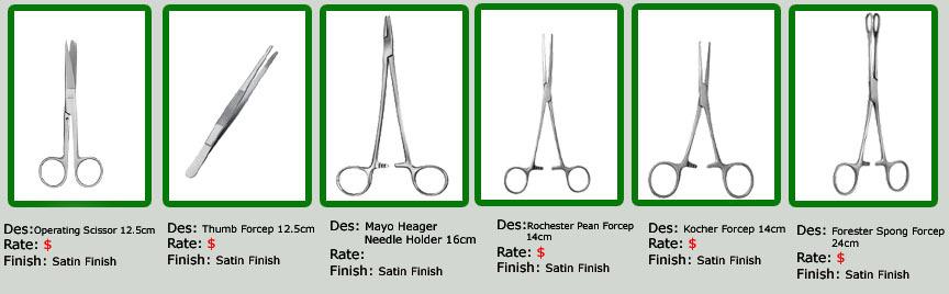Pakistan Surgical Instruments Set, Pakistan Surgical Instruments Set