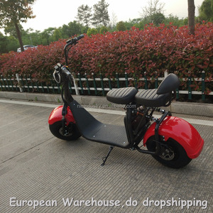 European Warehouse 2018 NZITA brand 60V 12AH 2000W electric scooter with pedals adult electric scooter adult