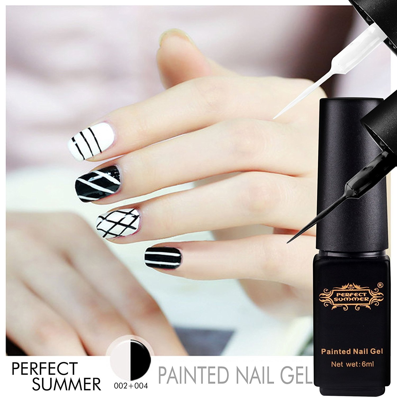 Perfect Summer New Hot 3pcs UV Nail Gel Polish Painted Nail Gel Dotting Tools DIY Nails Art Colors Decorations Desgins Painting Drawing Manicure 6ml Mini Pen Pull Nail Gel Liner #01