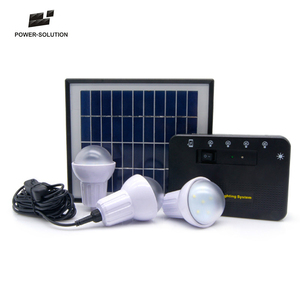 3 lights Home solar kits india for rural areas home lighting and cell phone charging