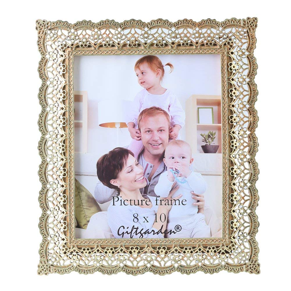 Giftgarden Golden Vintage Picture Frame 8x10 Friends Gift Photo 8 x 10 Inch