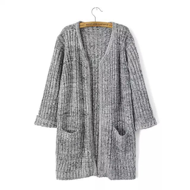 Get Quotations · WST365  Women Colored Wool Knitwear Cardigan Sweaters With  Pockets 3578cca1f