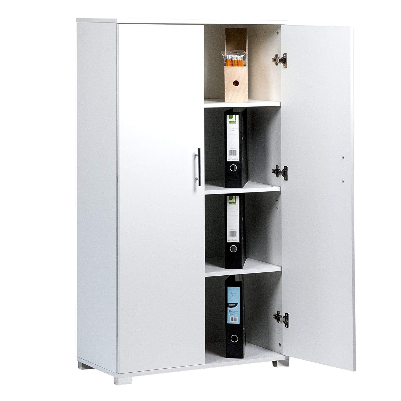 Buy Wooden Storage Cabinet A 2-Door Discount White Wood