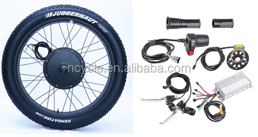 26inch fat tire 48v 1000w electric bike kit with battery for fat tire bike