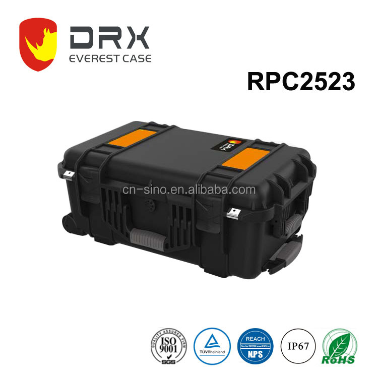 RPC2523 New arrive professional high quality strong waterproof shockproof plastic flight case with foam