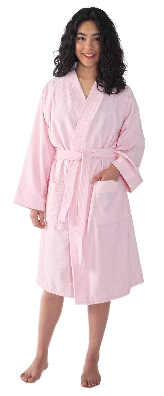 6716e8790a Get Quotations · Arus Women s Short Kimono Lightweight Bathrobe Turkish Cotton  Terry Cloth Robe