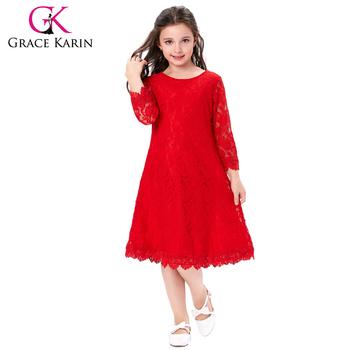 Grace Karin Children Kids Girls 34 Sleeve Round Neck Flower Girl