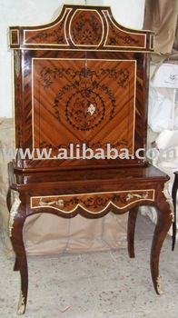 Superbe Antique Furniture Reproductions   French Louis XV Style Bar Cabinet